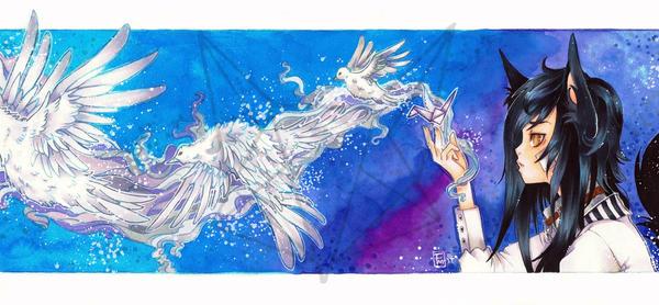 Paper Birds by Fuchsmaedchen