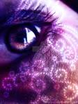 Remolinos purpuras de luces
