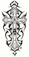 Tribal Cross by designbyry