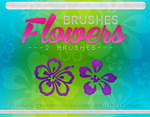+RECURSOS Y MAS: Brushes Flowers~~