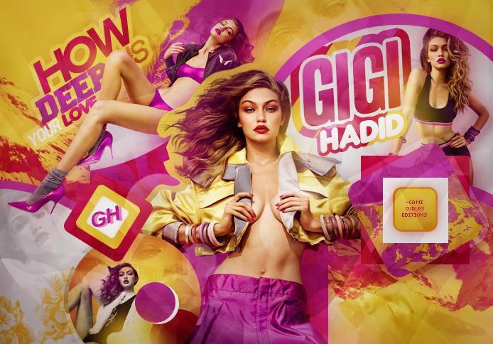 +EDICION : How Deep Is Your Love   Gigi Hadid by CAMI-CURLES-EDITIONS
