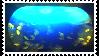 Midnight Aqua Deviant Stamp 1 by taketo-take-to-stock
