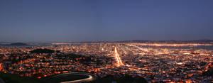 San Francisco Skyline Panorama by furiouz123