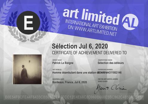 Certificat slection des diteurs 2