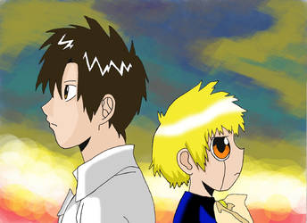 Gash and Kiyomaro by amandalandim