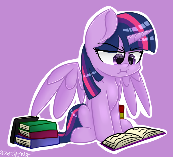 MLP: Book Horse by ZeroponyCreations