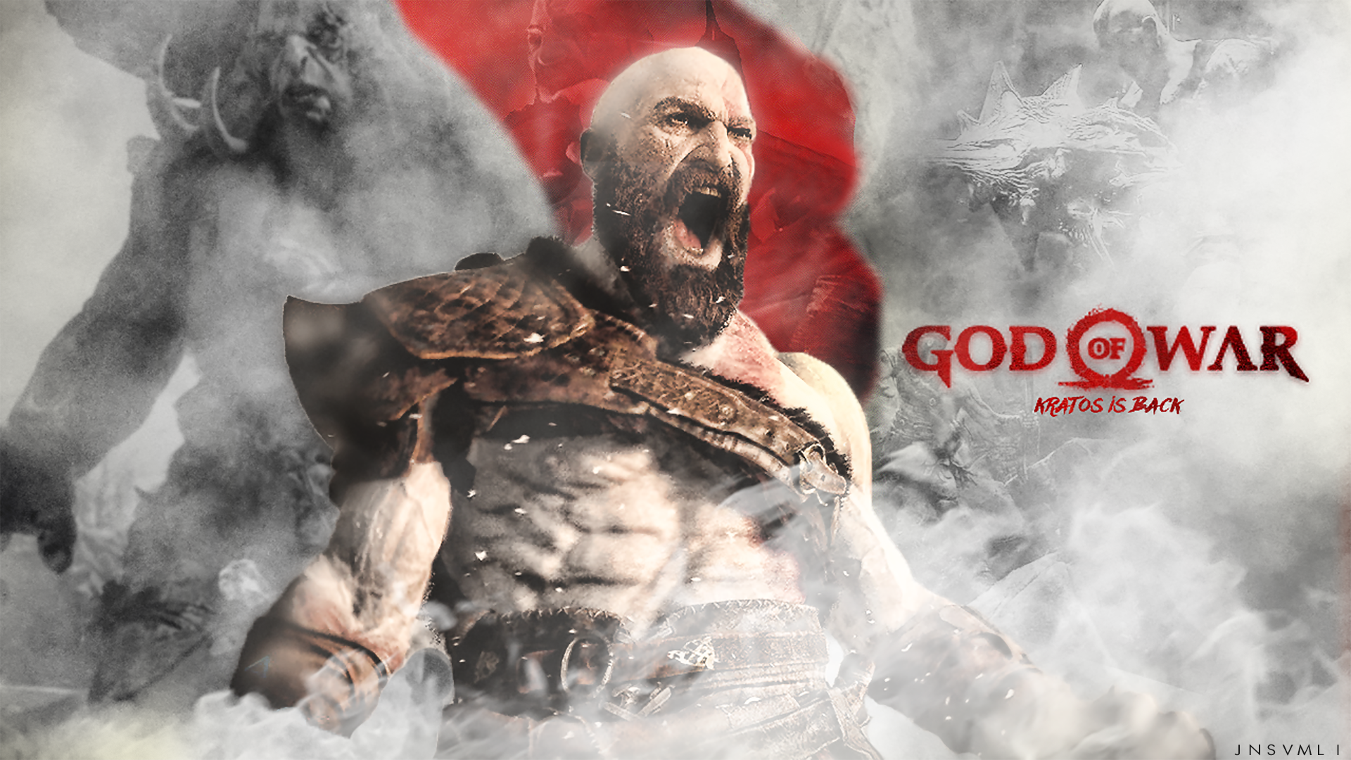 God Of War 4 Wallpaper V2 Jnsvmli By Jnsvmli On Deviantart