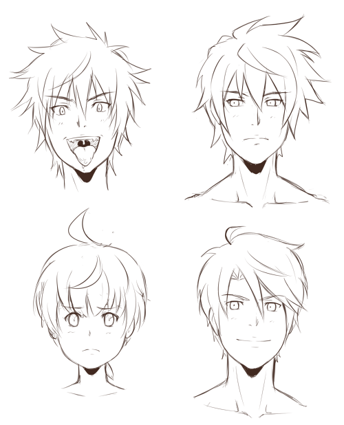Lineart Anime Boy : The boys lineart by sneedham on deviantart