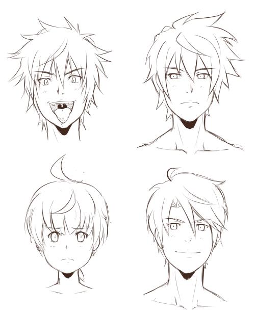 Lineart Anime Boy : The boys lineart by sneedham on deviantart