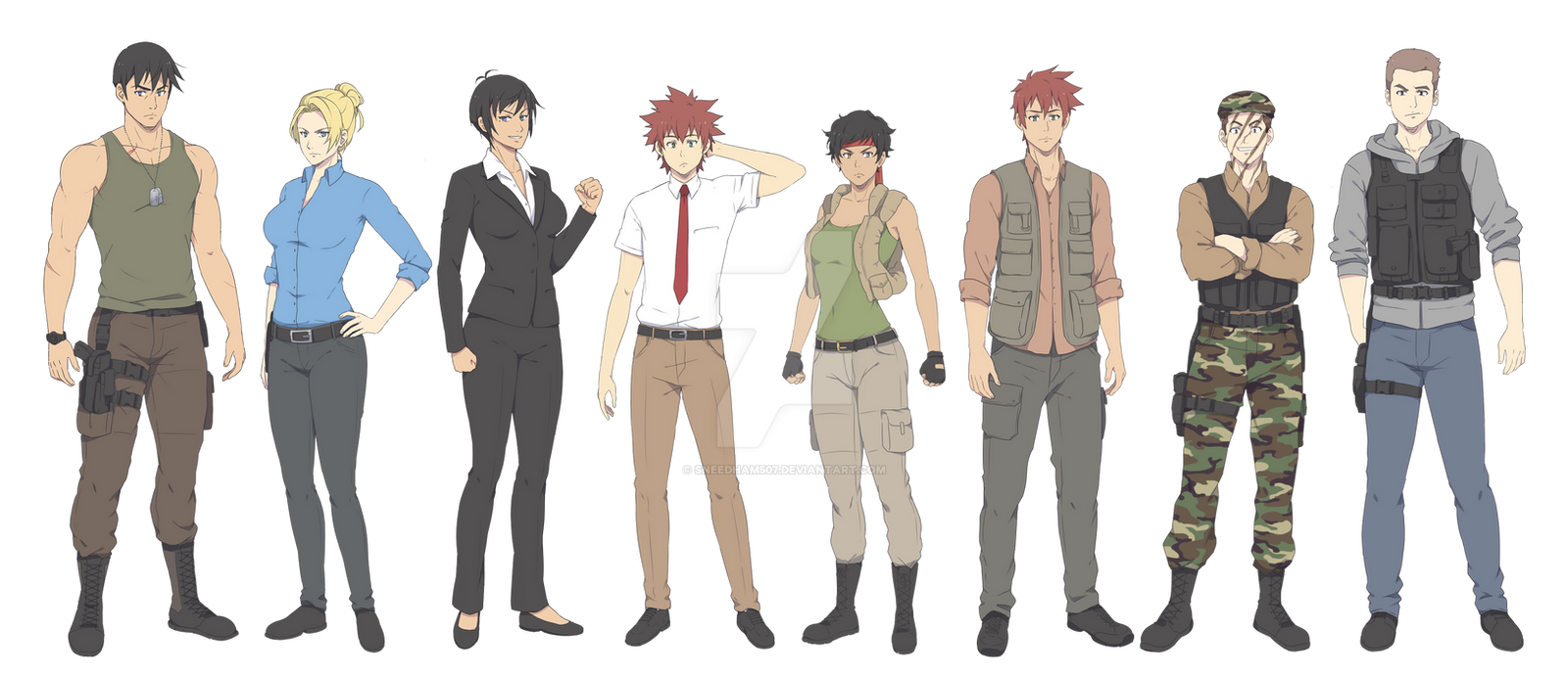 Z Ignition Anime Characters : Ignition crisis main characters by sneedham on deviantart