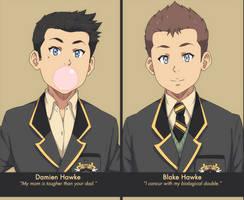 Damien and Blake Hawke: Freshman year by SNEEDHAM507