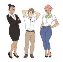 ICNG characters: Freddie, Rocco, Kathryn by SNEEDHAM507