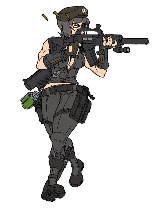 Captain Veronica Hawke: Full assault by SNEEDHAM507