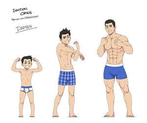 age progression: Damien Hawke