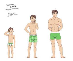 age progression: Blake Hawke