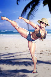 ICAS: Karate on the beach by SNEEDHAM507