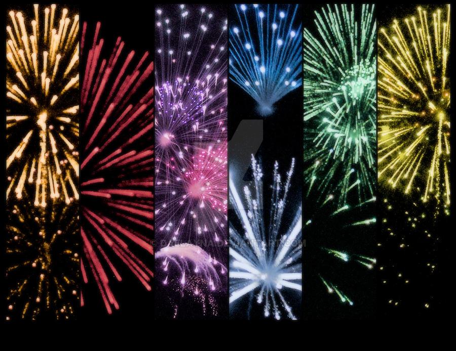 Fireworks Rainbow by Daelayna