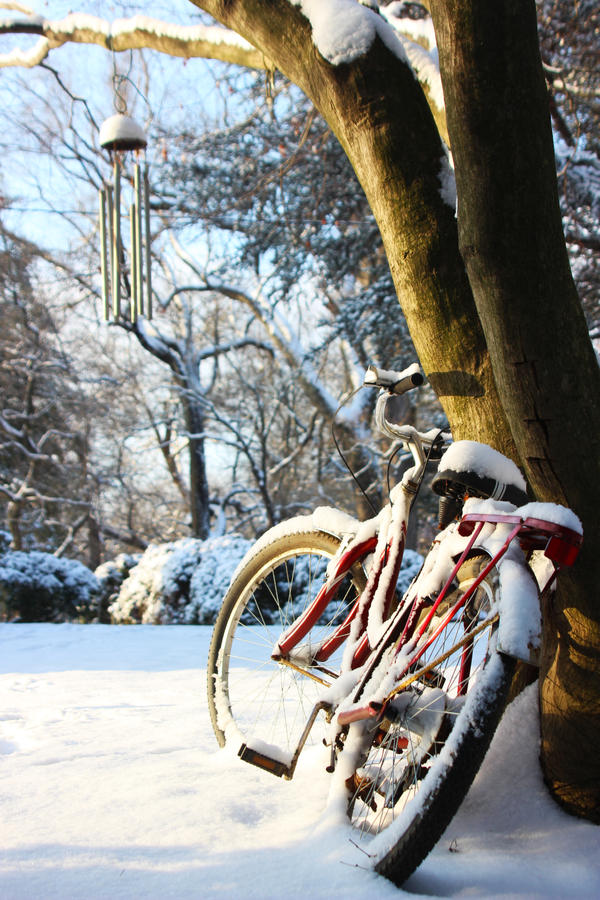Snowy Bike by gperkins10