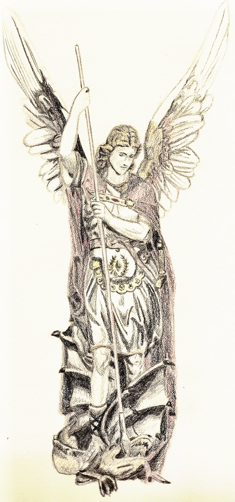Gallery For gt St Michael The Archangel Drawing