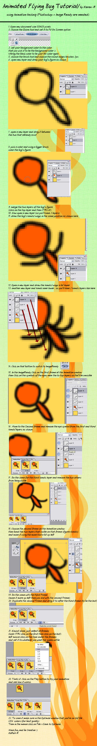 Animated Flying bug Tutorial by KeReN-R