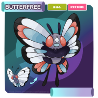 [Pokemon Alexandrite] #065 Butterfree by CatBun-YT
