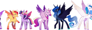 |MLP|Wishverse| Princess Redesigns