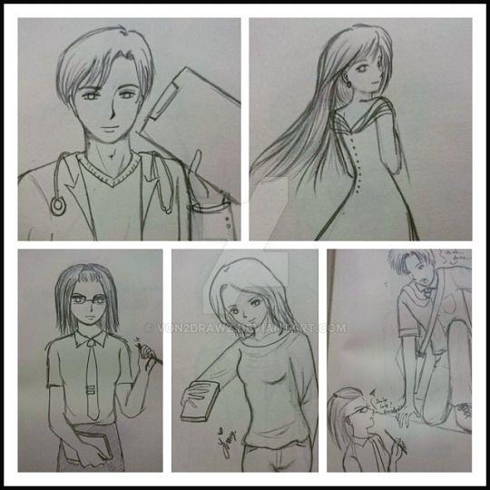 Drawing Collage by von2drawz
