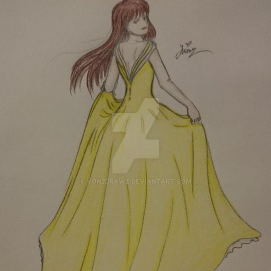 Lady 46 (Colored) by von2drawz