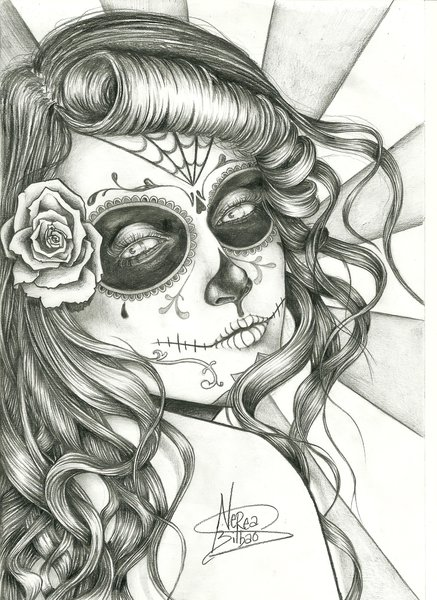 Sugar skull by agustyas7 on Pinterest | Sugar Skull Girl, Chicano ...