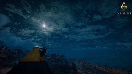 Assassin's Creed: Origins - Moon Gazing by tntiseverywere