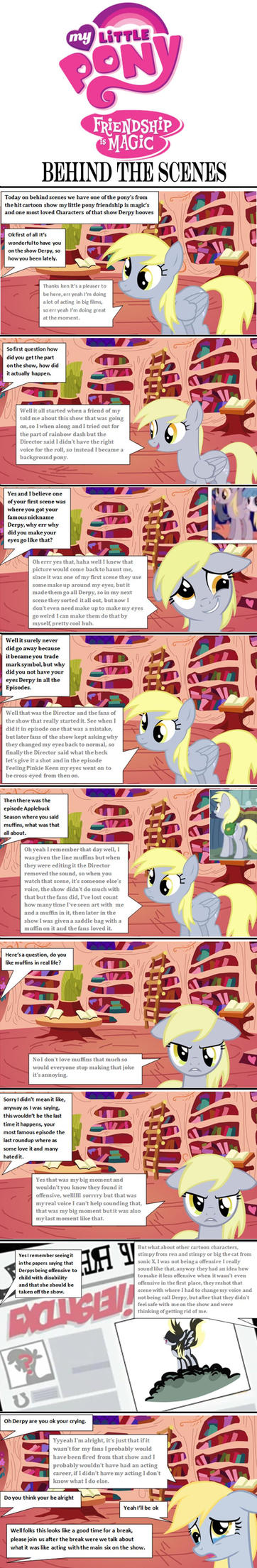my little pony behind the scenes with derpy part 1 by batman0889