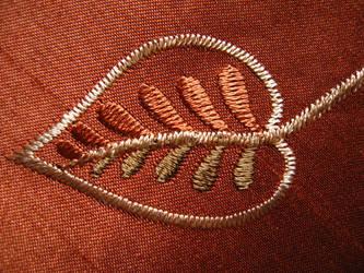 Sewn Asian Leaf - stock by rarous-stock