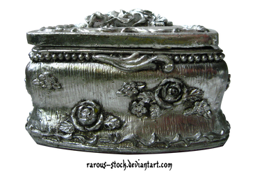Old Silver Jewelry Box - PNG by rarous-stock