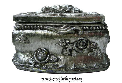 Old Silver Jewelry Box - PNG