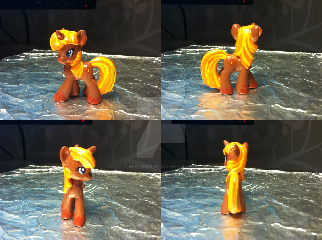 MLP FiM Blind Bag Repaint #4: Fire Pony by inuyasha1086