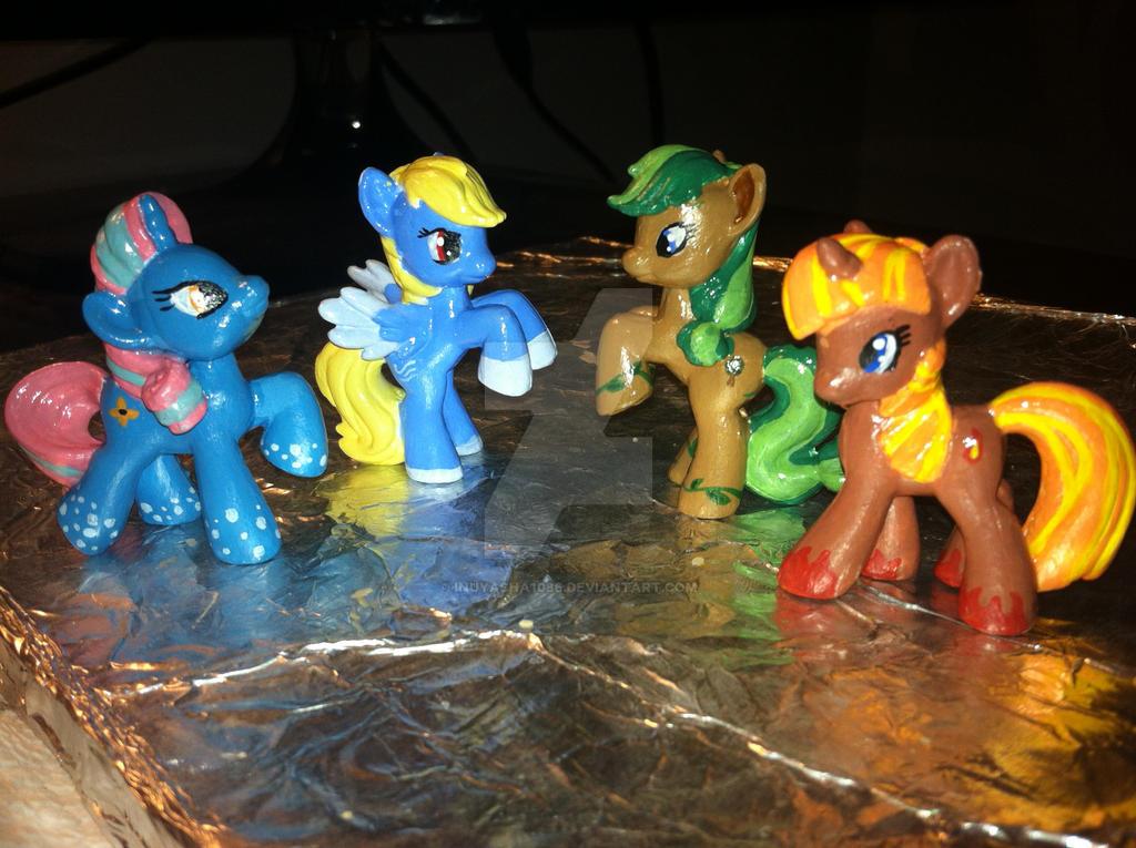 MLP FiM Blind Bag Repaints: Elemental Ponies by inuyasha1086