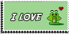 Stamp - I love frogs by ShiStock
