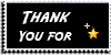 Stamp - Thank You for fav [black] by ShiStock