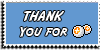 Stamp - Thank You for points [blue] by ShiStock