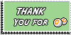 Stamp - Thank You for points [green] by ShiStock