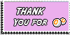 Stamp - Thank You for points [pink] by ShiStock
