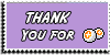 Stamp - Thank You for points [purple] by ShiStock