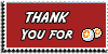 Stamp - Thank You for points [red] by ShiStock