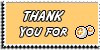 Stamp - Thank You for points [yellow] by ShiStock
