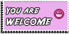 Stamp - Welcome [pink] by ShiStock