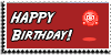 Stamp - Happy Birthday [red] by ShiStock