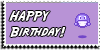 Stamp - Happy Birthday [purple] by ShiStock