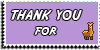 Stamp - Thank You for Llama [purple]