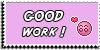 Stamp - Good work [pink] by ShiStock
