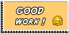 Stamp - Good work [yellow] by ShiStock
